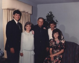 Mom and Dad - 25th Wedding Anniversary 1989 - with Butch, John, and Susie