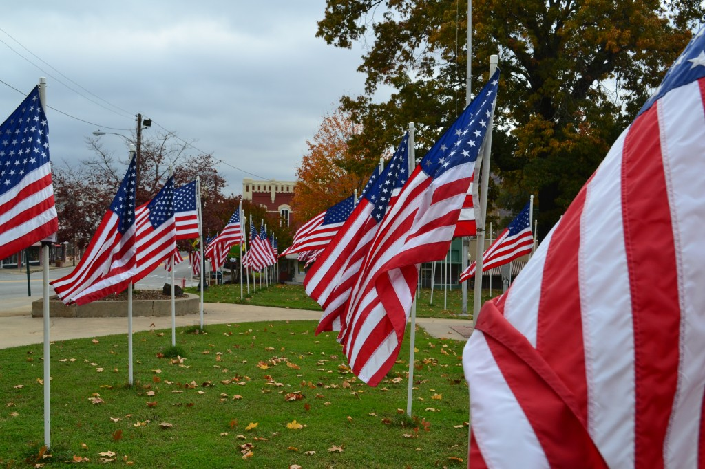 Field of Heroes at Cleburne Co. Courthouse in Heber Springs Arkansas