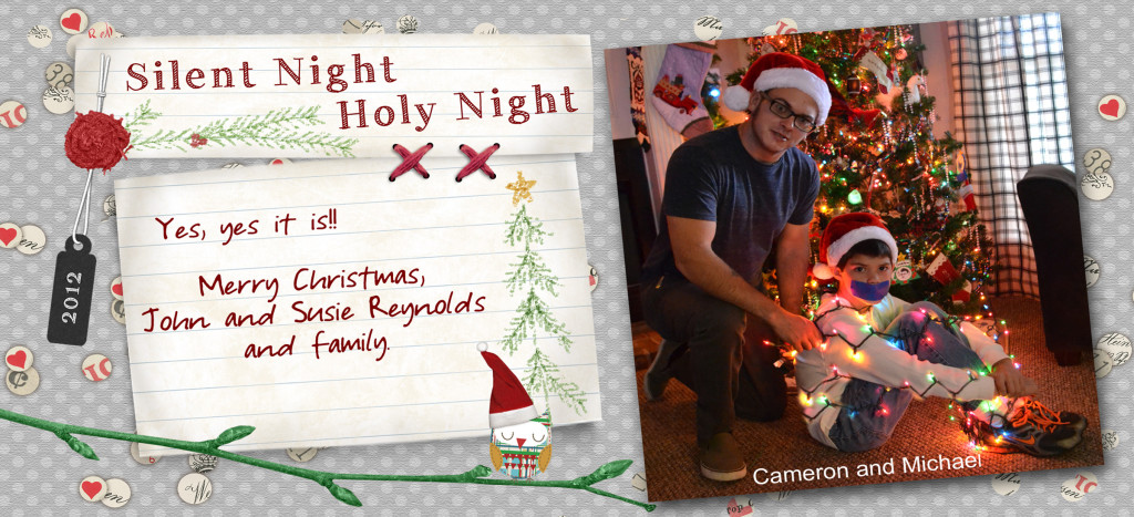 2012 Silent NIght Christmas Card