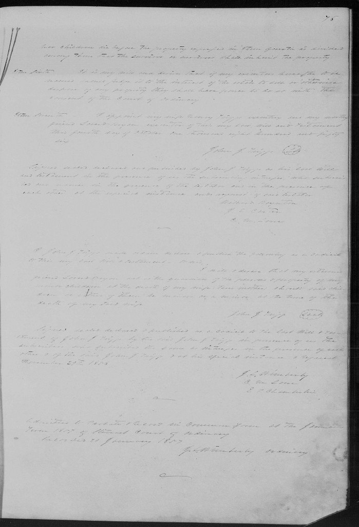 Georgia Probate Wills Book B page 76 Stewart Co. John J Triggs