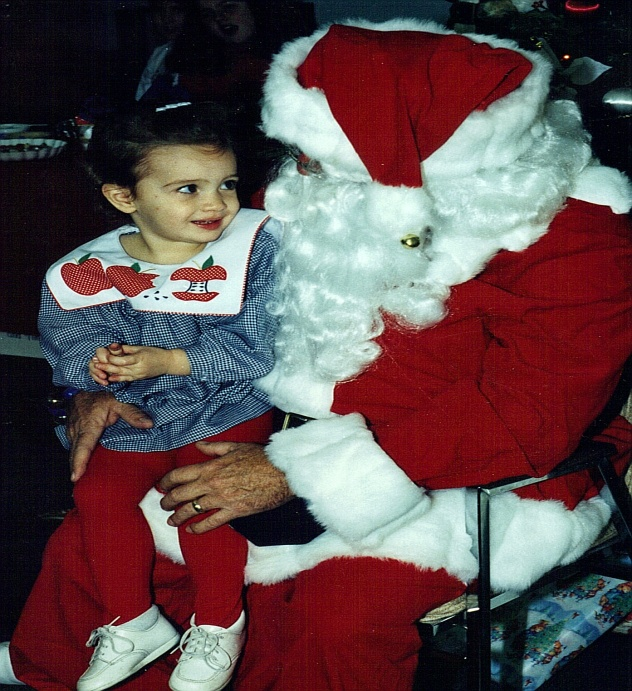 Emy's visit with santa