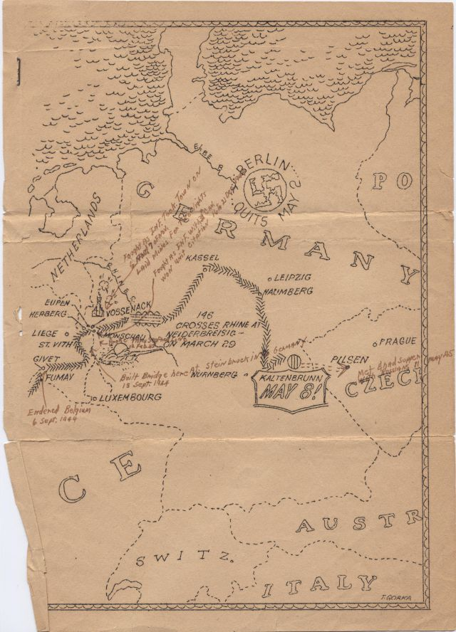 A Pictorial Map History of the 146 Engrs from June 6, 1944 to May 8, 1945