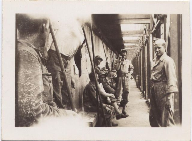 In a bunker maybe?  - the 146th Engineer Combat Battalion WWII