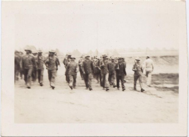 Marching - the 146th Engineer Combat Battalion WWII