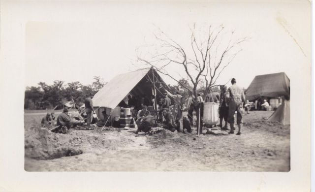 Mess tent the 146th Engineer Combat Battalion WWII