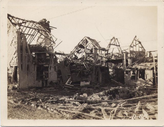 Destruction in Vossenack,  Germany