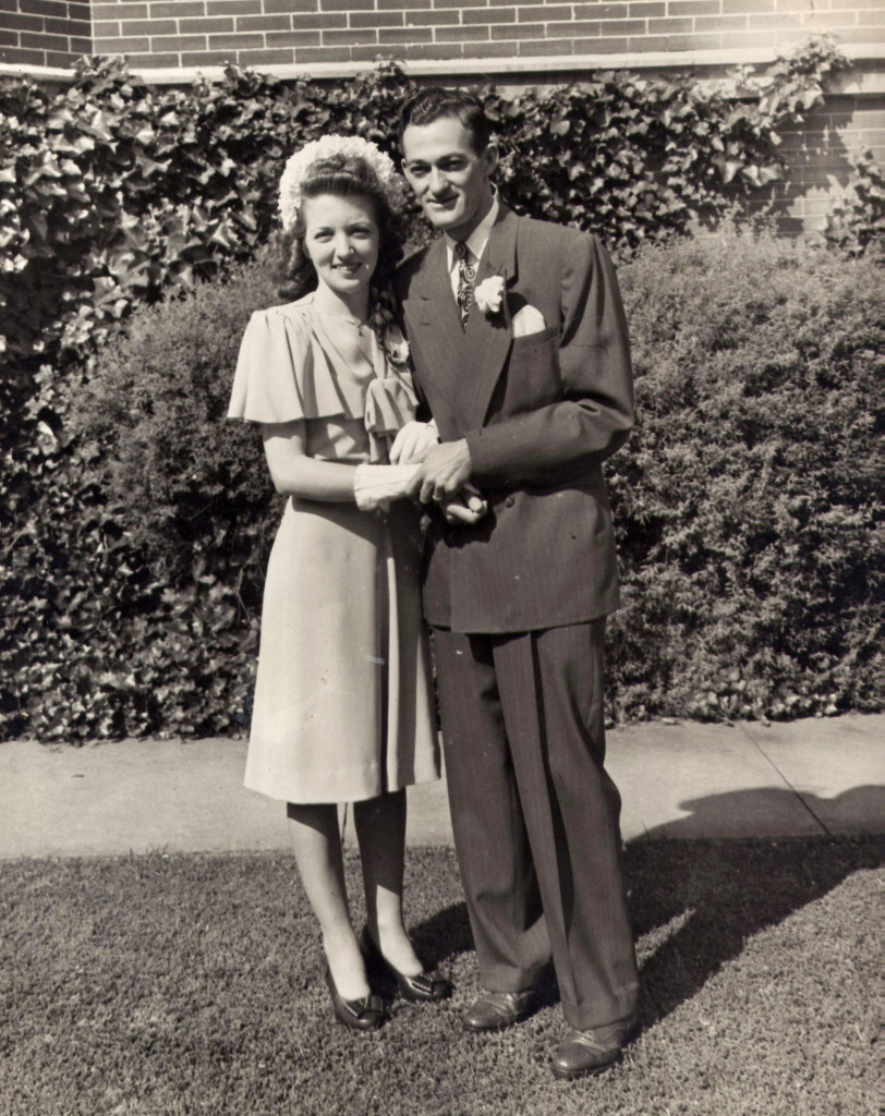 Sam Ball Jr and Melba Reynolds Ball Wedding Picture