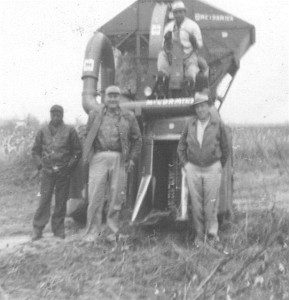 Raymond Hemperley (on right) picking cotton on his place 1961
