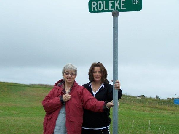 My Mom and I in Bethany Missouri by a street named after my 2nd great grandfather