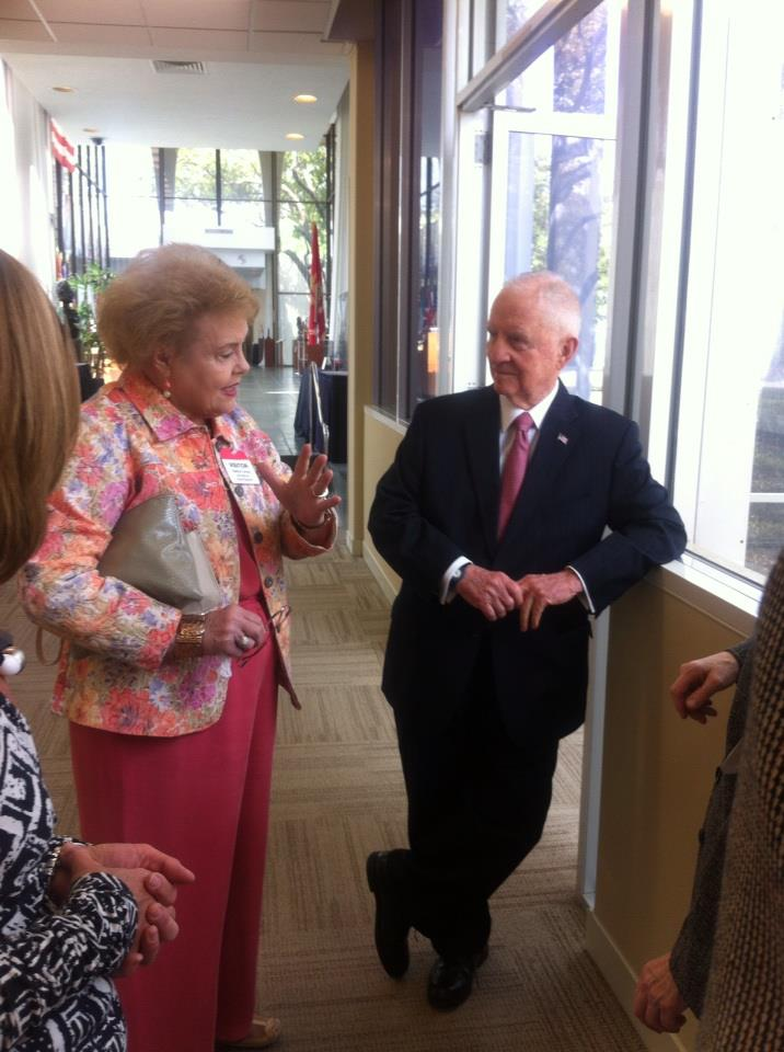 Nedra Harris Turney with Ross Perot