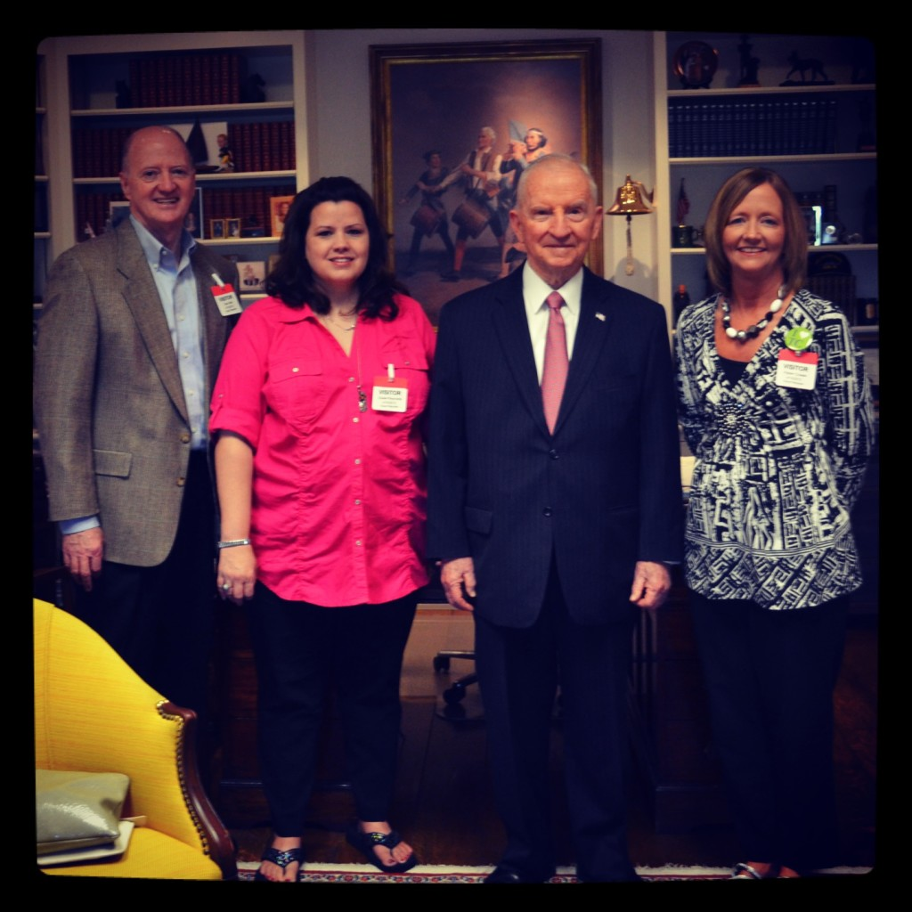 Sam Ball III, Susie Reynolds, Ross Perot and  Karen Ball Cowan