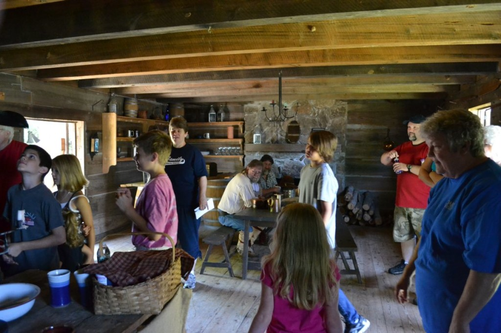 Inside the Blockhouse at Cadron Settlement Conway AR