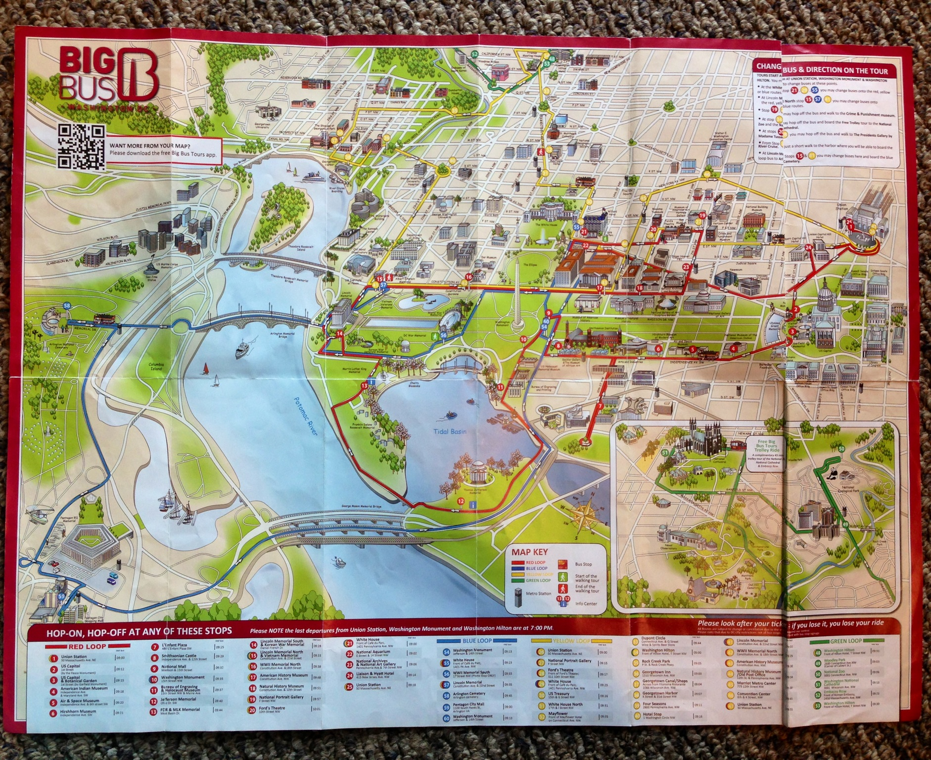 Day Six of My DC Trip – Tourist Map Washington DC