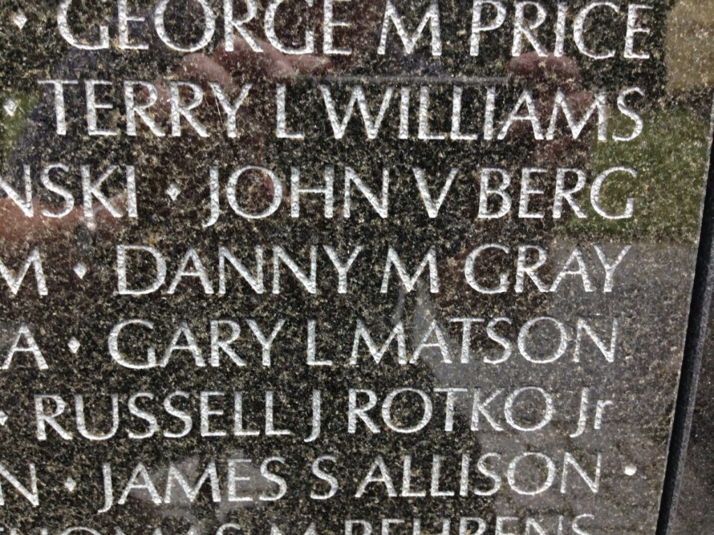 Vietnam Veterans Memorial Danny M Gray