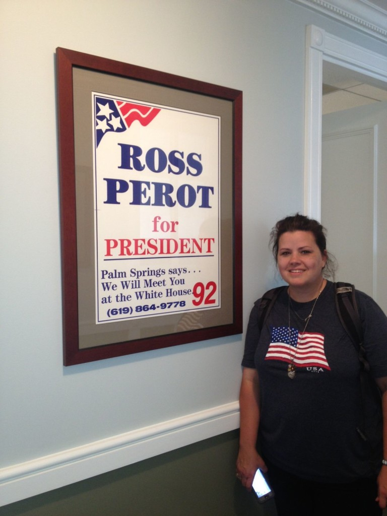Me with Ross Perot Poster