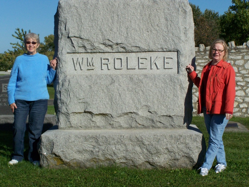 Mom and Addie William Roleke Plot Marker