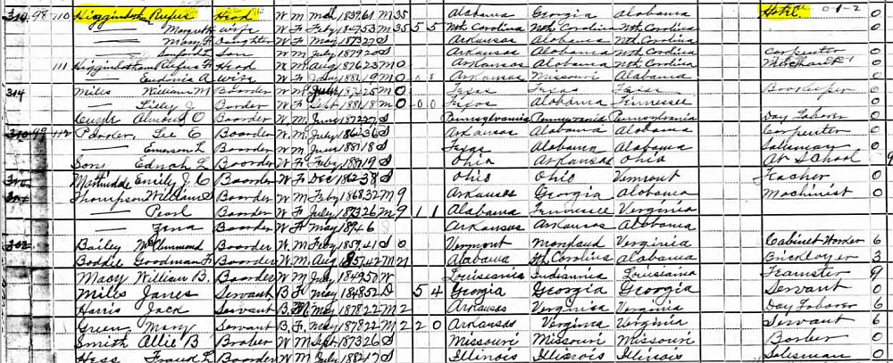 1900 Higginbotham Census