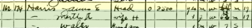 1930 Census Harris