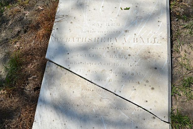 Bathsheba A Ball Headstone