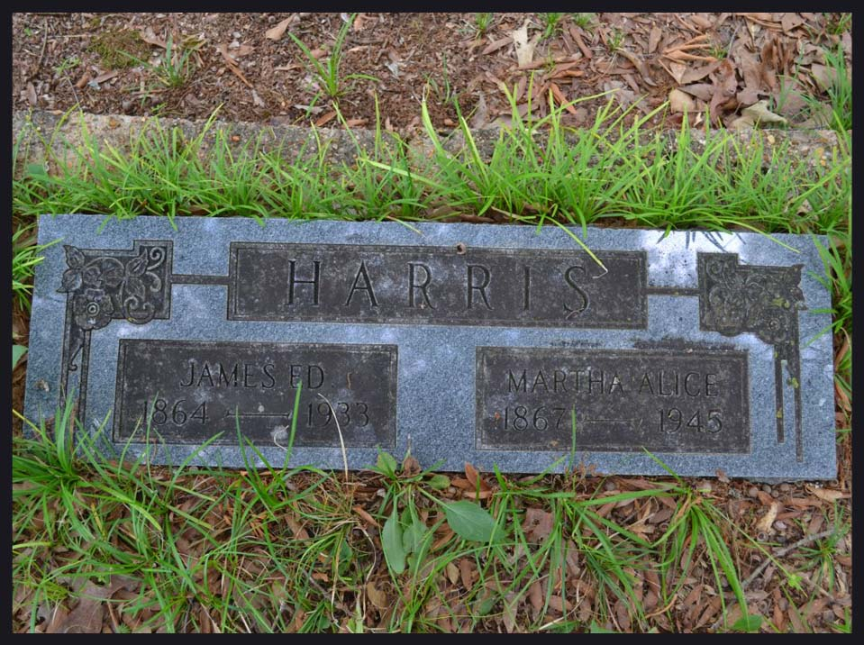 James Ed and Martha Harris Headstone