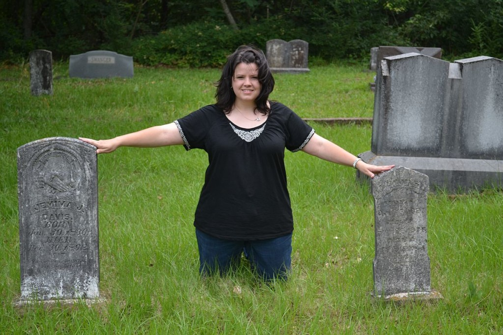 Me with Jemima and John Davis headstone