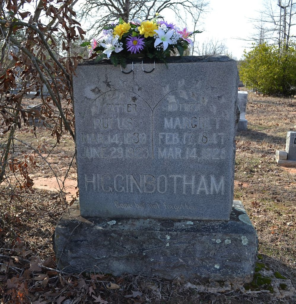 Rufus and Margaret Higginbotham Headstone