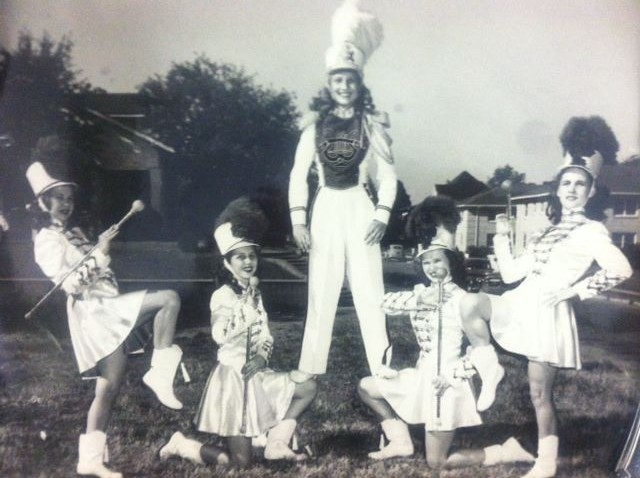 Norma Jean as a Majorette