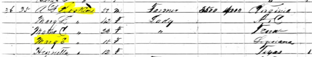 1860 Census Hoskins