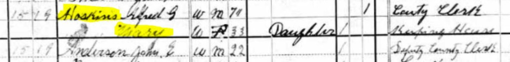 1880 Census Hoskins
