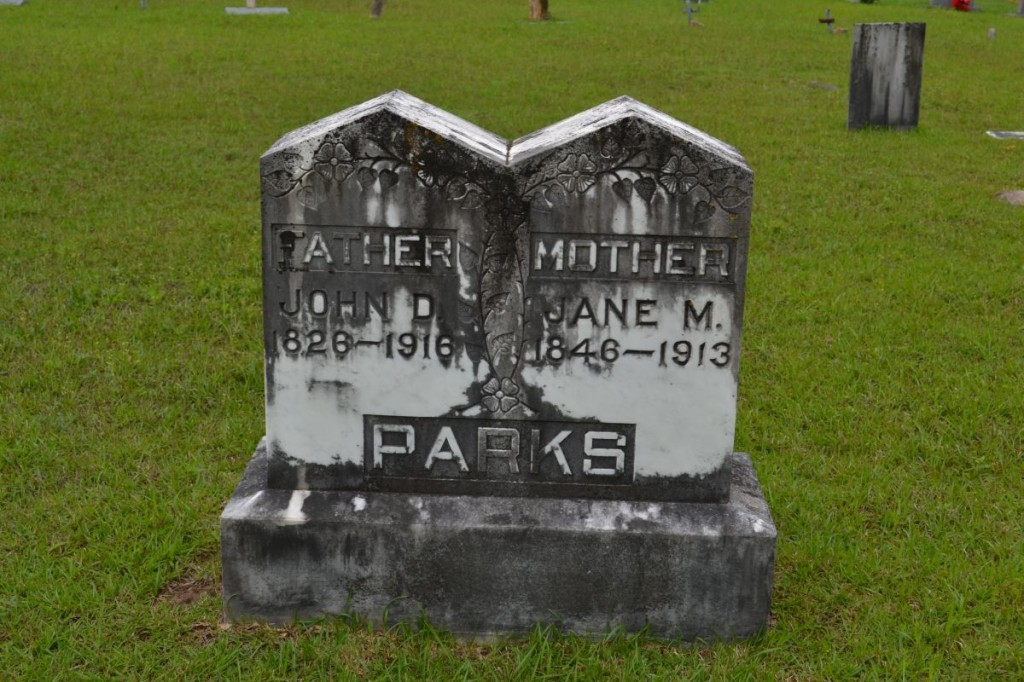 John D and Jane M Parks Headstone