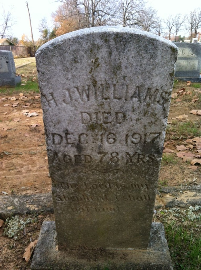 Rev. Francis Hereford Williams Headstone