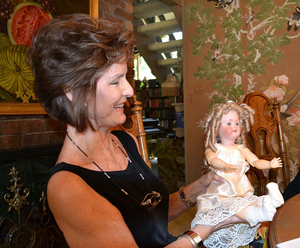 Melba Wood with Her Mother's Doll.