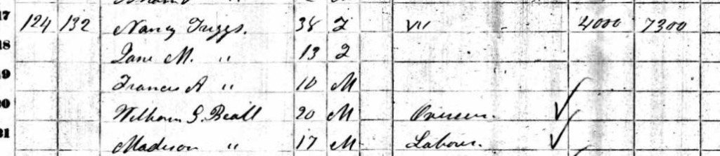 1860 Census Triggs Family