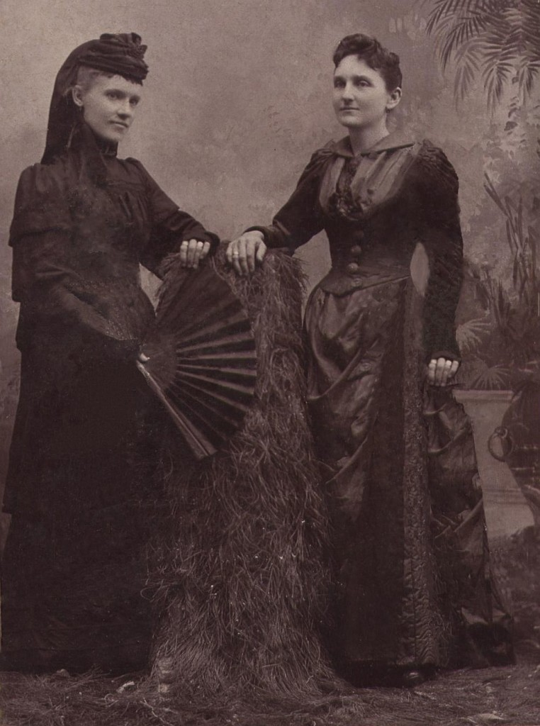 Mary George (Hooker) Herring Bickley on right