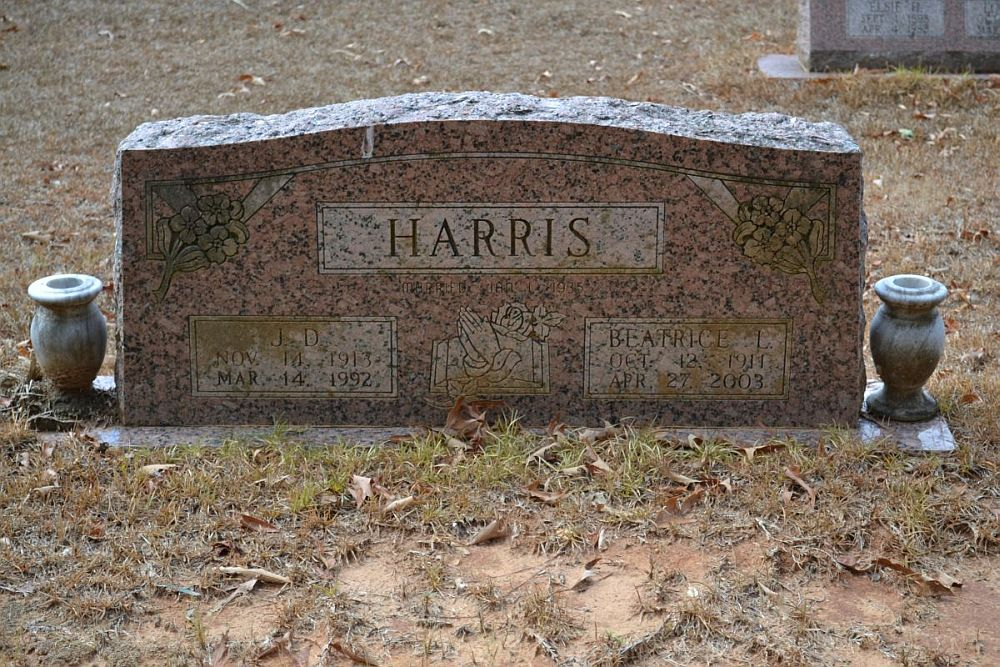 JD and Beaty Harris Headstone