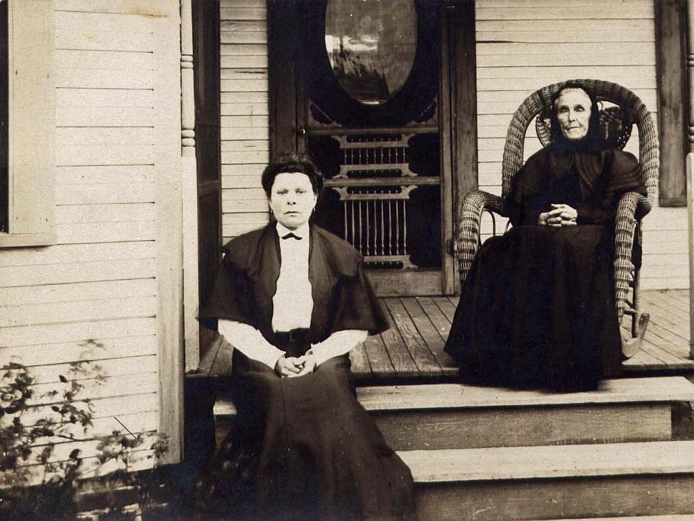 Martha A (Herring) Harris and Mary George (Hooker) Herring Bickley