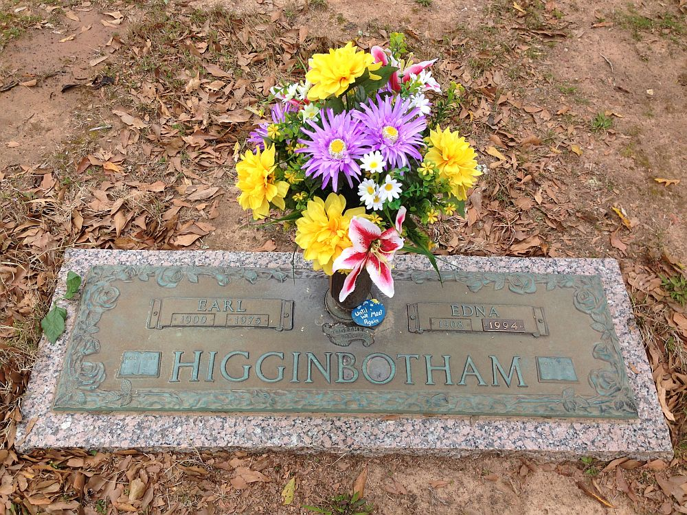 Earl and Edna Higginbotham Headstone