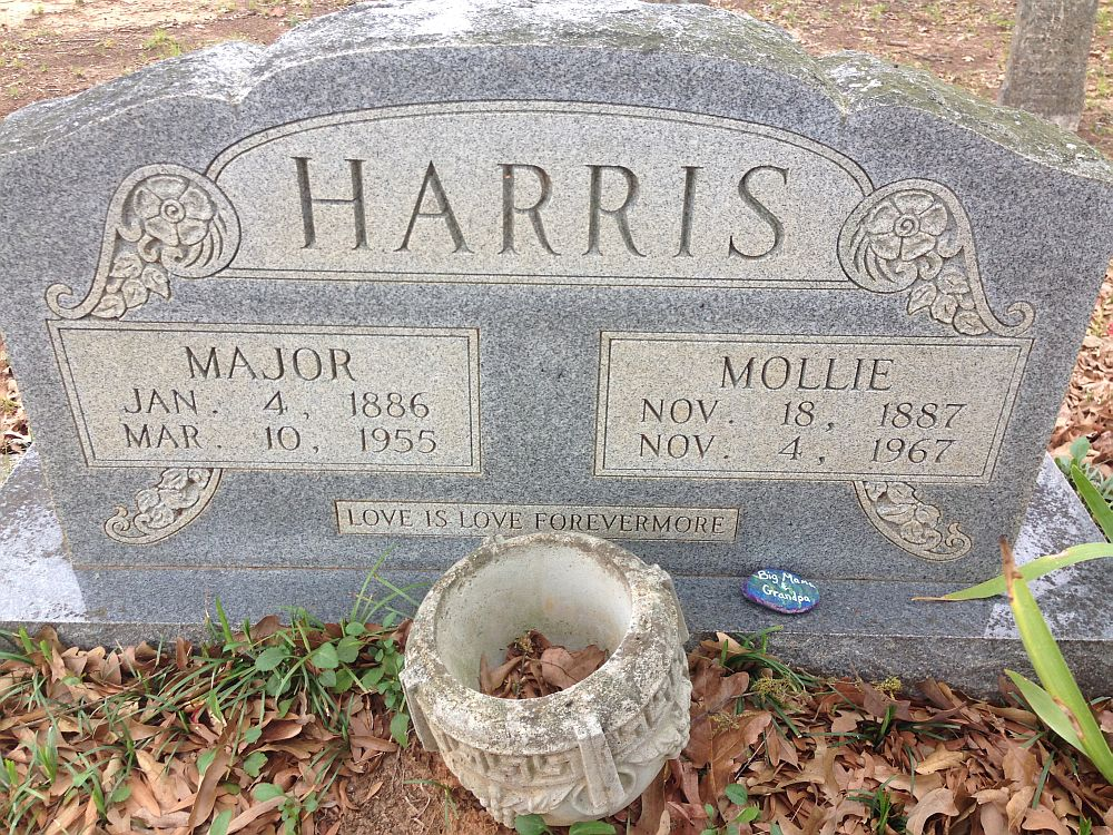 Major and Mollie Harris Headstone