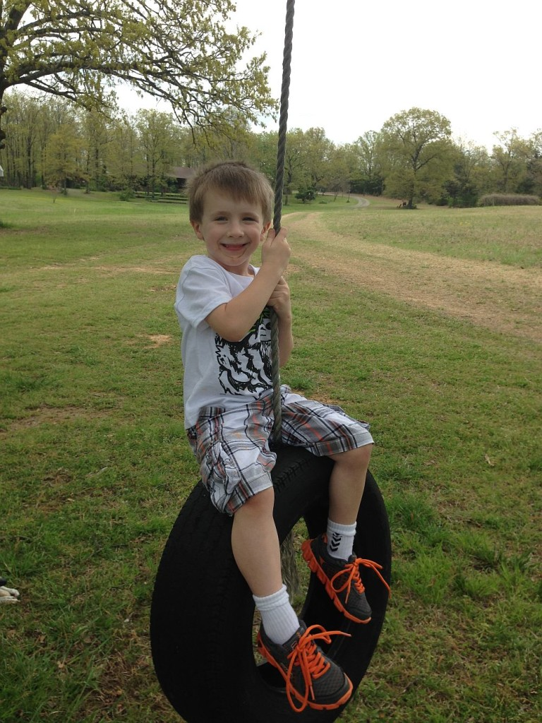Skylar on the swing
