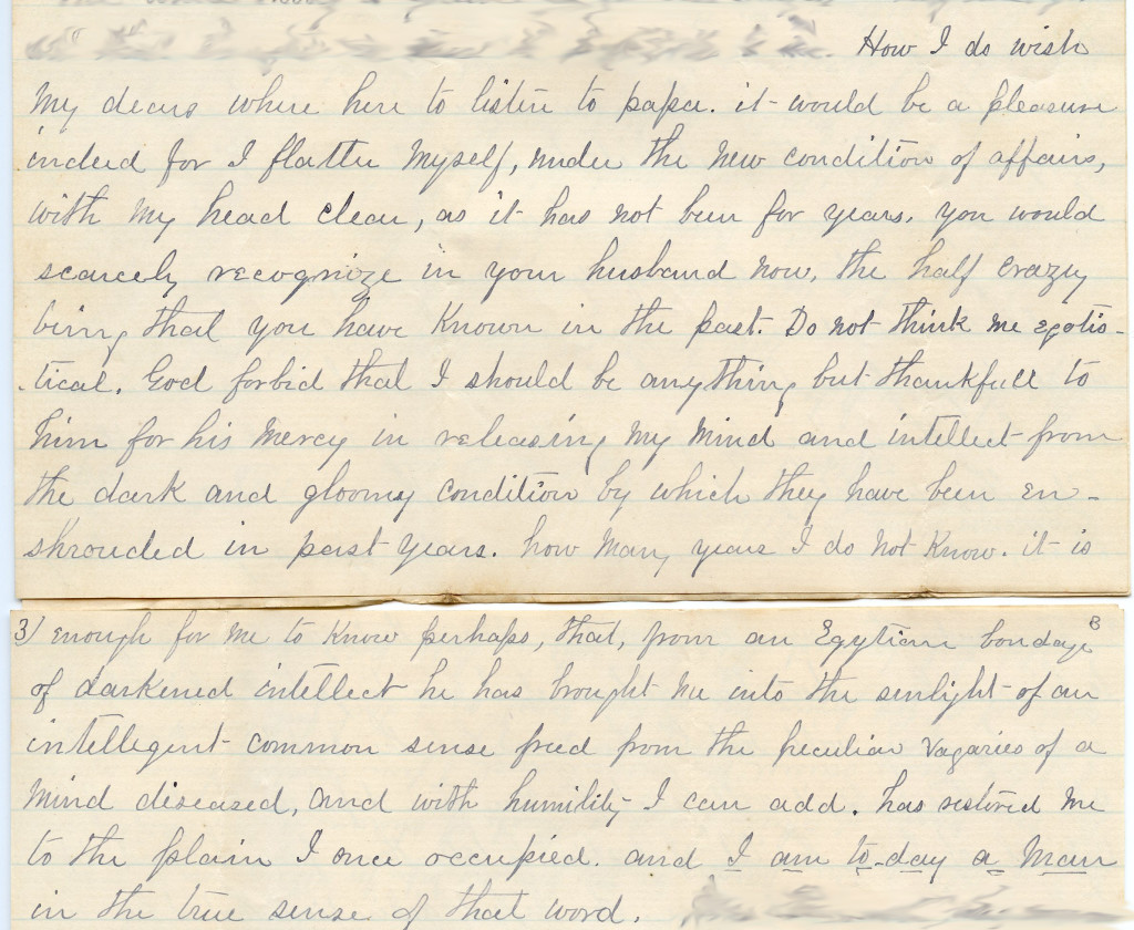 Letter from Rev. Williams dated Oct 26th 1890
