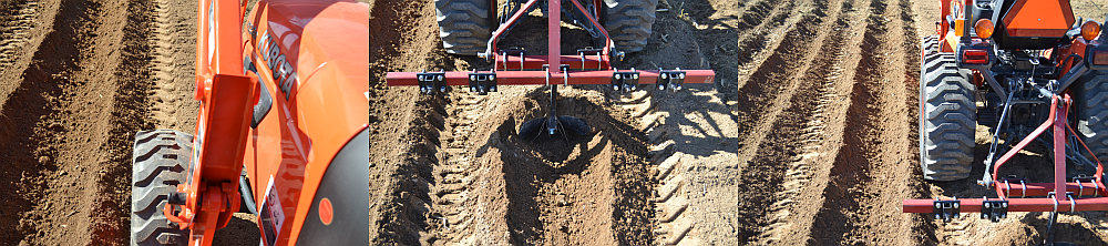 Opening rows using a middle buster.