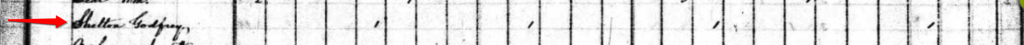 Godfrey Shelton 1830 Census