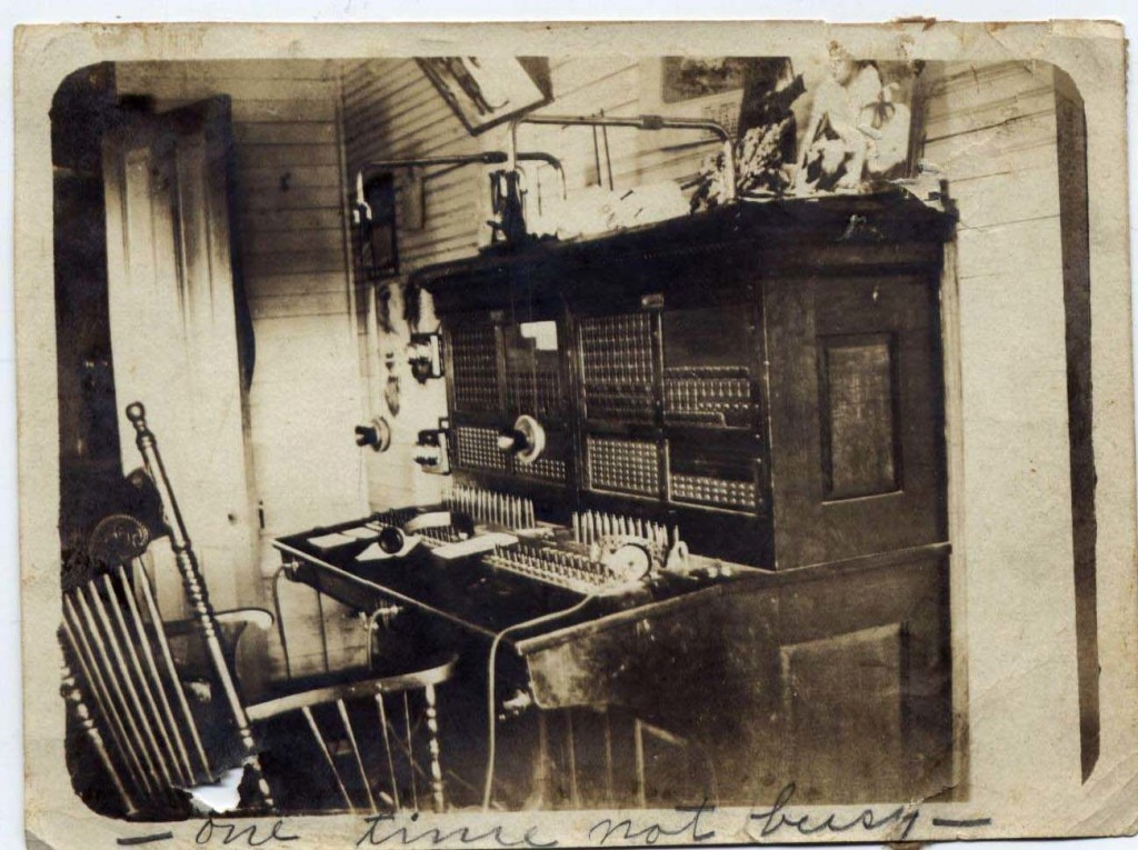 Switchboard in the back of the Drug Store in New Boston, owned by John Anderson