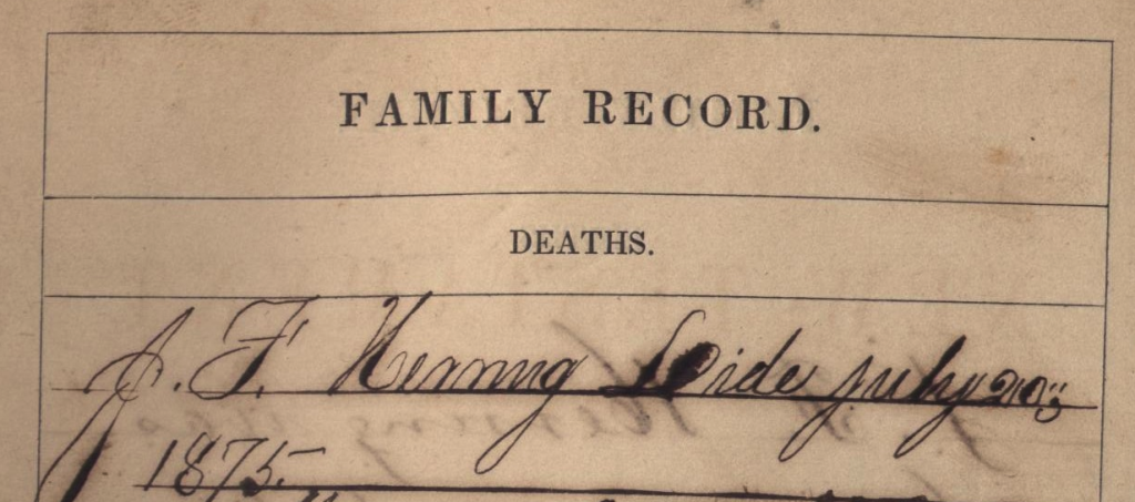 JF Herring Death Record